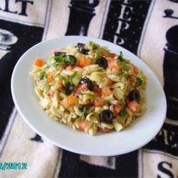 Orzo Tomato Artichoke  Salad Recipe