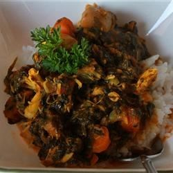 Parsley Spinach Chicken Stew