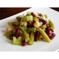 Three Bean Salad With Celery Recipe
