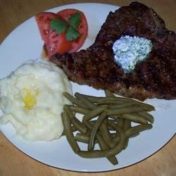 Photo of Ancho Chile Rubbed Venison Steaks with Lime-Cilantro Butter by PLONGSTOCKING