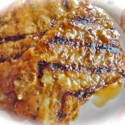 Glazed Grilled Pork Chops Recipe