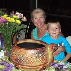 My grandson and I on Mother's Day