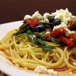 Quick and Easy Greek Spaghetti  Recipe