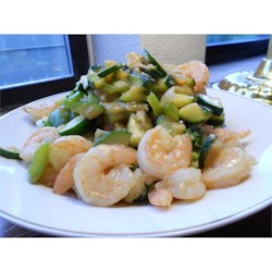 Honey-Ginger Shrimp and Vegetables