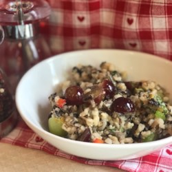 Brown and Wild Rice Salad with Grapes and Kale