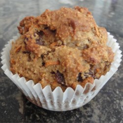 """Carrot Cake"" version of Oat Bran Muffin"