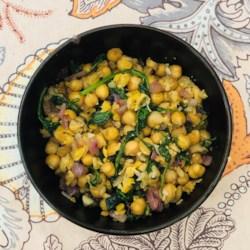 espinacas con garbanzos spinach with garbanzo beans photos