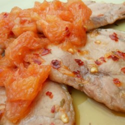 Benji's Pork Chops with Grapefruit Relish Recipe