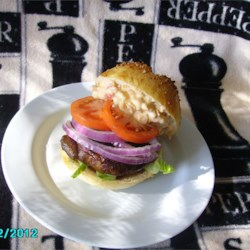 Portabella Mushroom Burgers with Red Pepper Mayonnaise Recipe