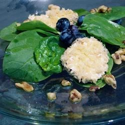 Spinach Salad with Baked Goat Cheese