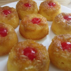 Mini Pineapple Upside Down Cupcakes