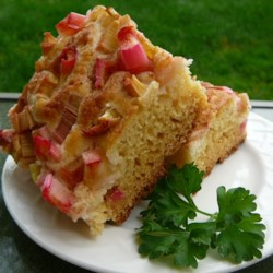 Sour Cream Rhubarb Coffee Cake  Recipe