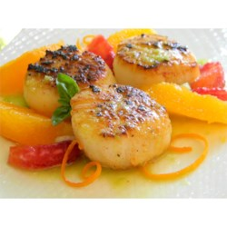Seared Scallops with Jalapeno Vinaigrette Recipe