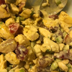 curry chicken salad with grapes printer friendly