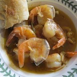 Cy's Killer Shrimp Soup