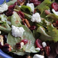Candied Pecan and Goat Cheese Salad