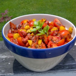 Sweet Pepper Balsamic Bean Salad Recipe