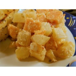 Half-Red Half-Sweet Potato Salad