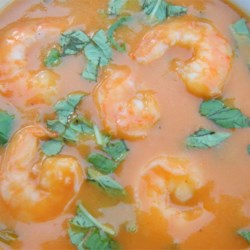 Spicy Coconut Shrimp Bisque