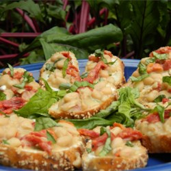 Red, White, and Blue Bruschetta Recipe