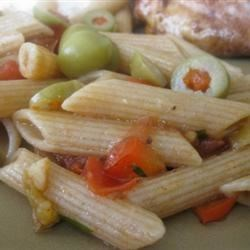 Rigatoni With Eggplant, Peppers, and Tomatoes Recipe