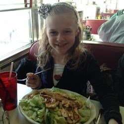 My daughter Kylie enjoy a HUGE salad