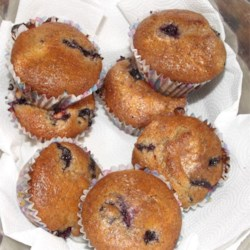 Blueberry and flax muffins ! ?