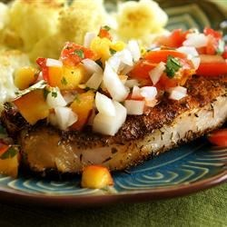 Grilled Pork Chops with Fresh Nectarine Salsa Recipe