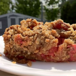 Ginger Rhubarb Crisp Recipe