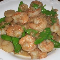 Shrimp with Ginger and Snow Peas Recipe