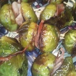 Roasted Brussels Sprouts and Prosciutto Poppers