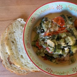 red chard with feta and tomatoes printer friendly