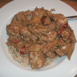 Indian Style Chicken with Apples