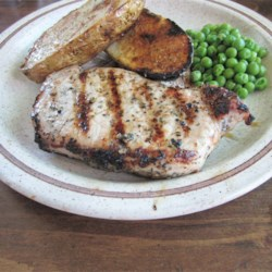 Basil-Garlic Grilled Pork Chops Recipe