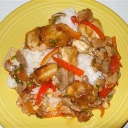Pork, Peppers, and Tofu