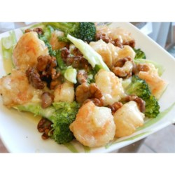 Honey Walnut Shrimp w/ Boiled Broccoli