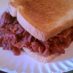 Photo of Big Game Grape Jelly Barbeque Ham Sandwiches by PJ's kitchen