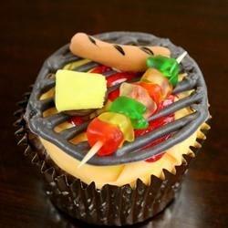 BBQ Brownie cupcakes
