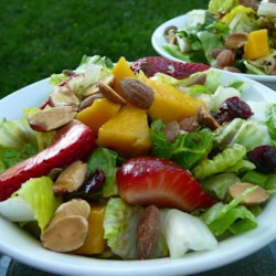Strawberry-Mango Mesclun Salad Recipe