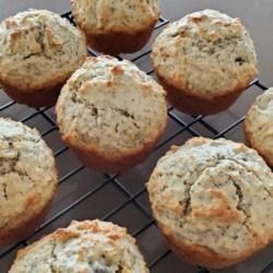 double oat raisin poppyseed muffins printer friendly
