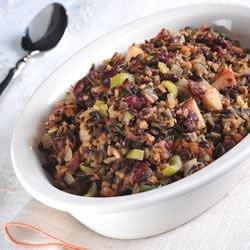 Rice Stuffing with Apples, Herbs, and Bacon Recipe