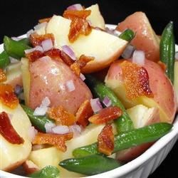 Don's Tangy Potato, Green Bean and Bacon Salad