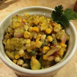 Grilled Corn and Poblano Salad with Chipotle Vinaigrette Recipe