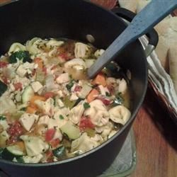 Chicken Tortellini Soup With Zucchini and Tomatoes Recipe