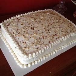 Double Layer Almond Sheet Cake