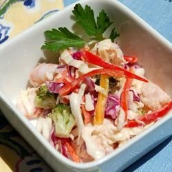 Seafood And Cabbage Salad Recipe