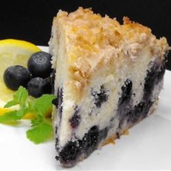 Toasted Coconut-Topped Blueberry Cake Recipe