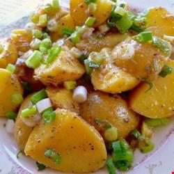 light and easy greek potato salad printer friendly