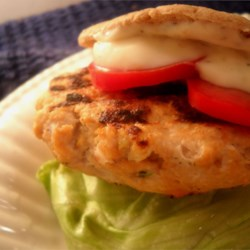 Salmon Burgers with Lemon Basil Mayo