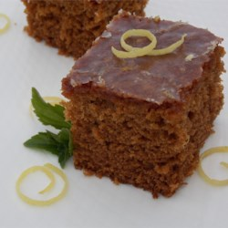 Gingerbread Cake with Lemon Glaze Recipe